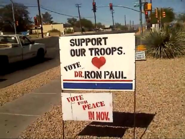 Ron Paul Sign Upgrade 05/05/2012 Tucson Az Support!