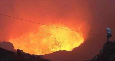 Magma freaks descend into erupting volcano!