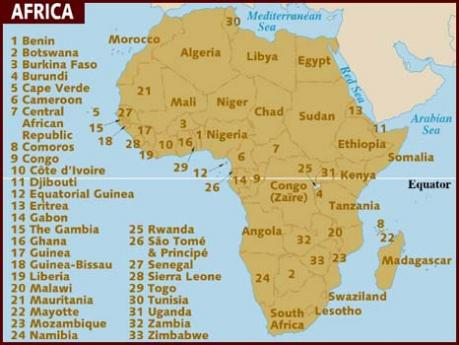 AFRICA: ON THE MAP