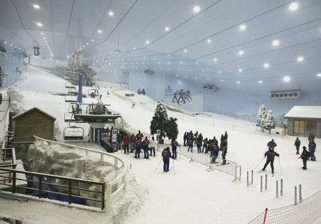 An indoor skiing facility in Dubai, United Arab Emirates.