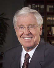 Charles Koch -- no surprise -- disdains government and the political class.