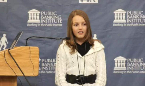 Everyone's Buzzing About This Cute Little Girl Who Slams Big Banks For Enslaving The People