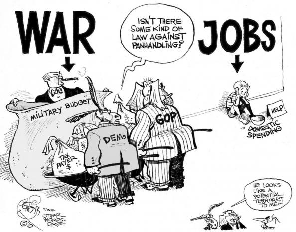 Your Military Industrial Complex at Work: 123,000 workers at risk of being laid off [Sure!]