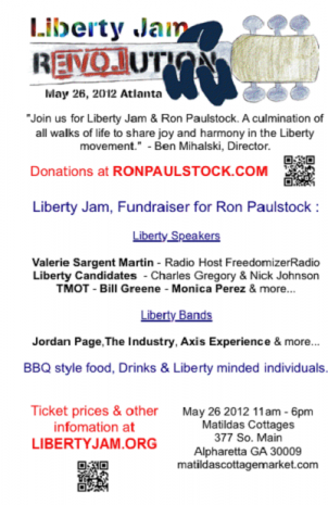 Liberty Jam (Ron Paulstock) - May 26, 2012 Atlanta Georgia