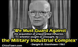 Dwight Eisenhower's speech - there were actually 29 drafts of his Military Industrial Complex Speech