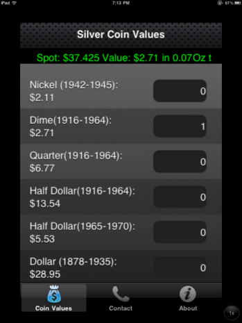 The Coin silver calculator iPhone app was released May 27th, 