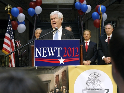 Gingrich Hints He May Drop From Race This Week  : )