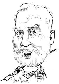 Author Alan Korwin as drawn by Pulitzer-prize-winning cartoonist Steve Benson