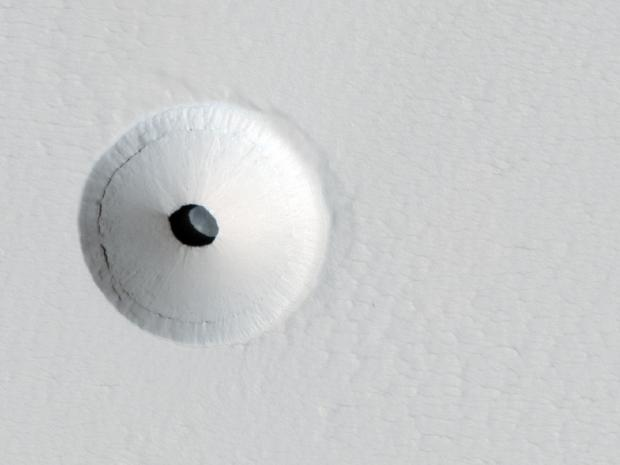 Curious Hole on Mars