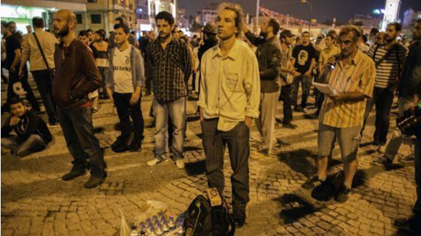 Turks invent new form of �standing� protest to get around ban on gatherings