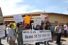 Arizona and the Central Arizona Project (CAP), holding Navajo/Hopi water hostage.