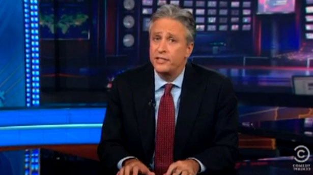 Jon Stewart reviews the �f*cking crazy people� on the national stage