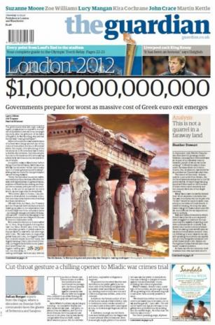 The Guardian Nailed The Greek Bailout With This Awesome Front Page