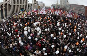 Tens Of Thousands Of People Are Marching On The Streets Of Moscow