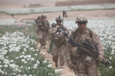 US Soldiers Guarding the Poppy Fields in Afghanistan for the CIA
