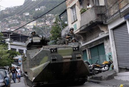 "Troops occupy Rio slum in ""historic"" operation"