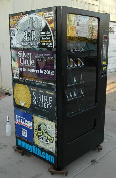 Silver Dime Card Vending Machine