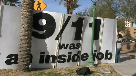 9/11 911 was an inside job billboard phoenix arizona