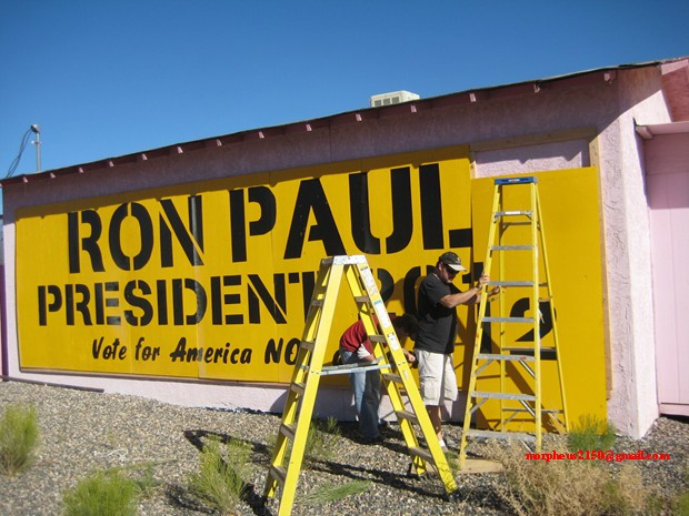 Tesla Ron ladders Paul 2012 revolution continues sign making cottonwood Arizona