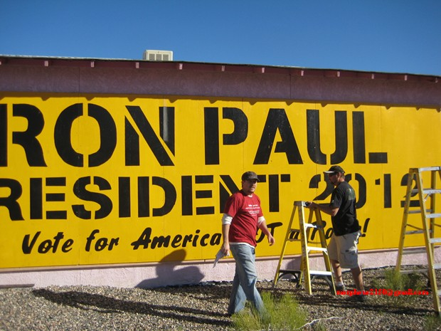 4409 tesla Ron Paul 2012 revolution continues sign making cottonwood Arizona