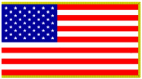 United States Admiralty Jurisdiction flag flown gold Fringe edges