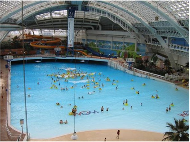 Worlds largest indoor pool World Water Park Edmonton Alberta Canada 5 acres