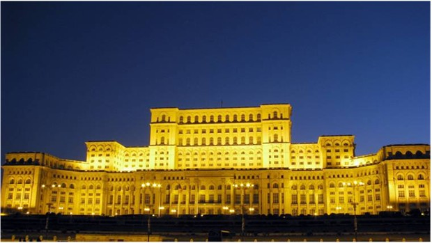 WORLD'S LARGEST PALACE ROMANIA Palace of the Parliament..... Bucharest , Romania 500 bedrooms 55 kitchens 120 sitting rooms