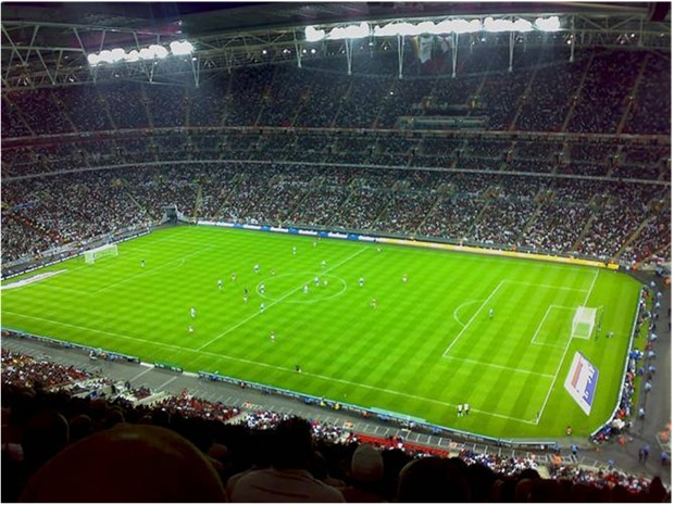 WORLD'S COSTLIEST STADIUM ENGLAND New WEMBLEY STADIUM London 90000 seating $1.6 billion