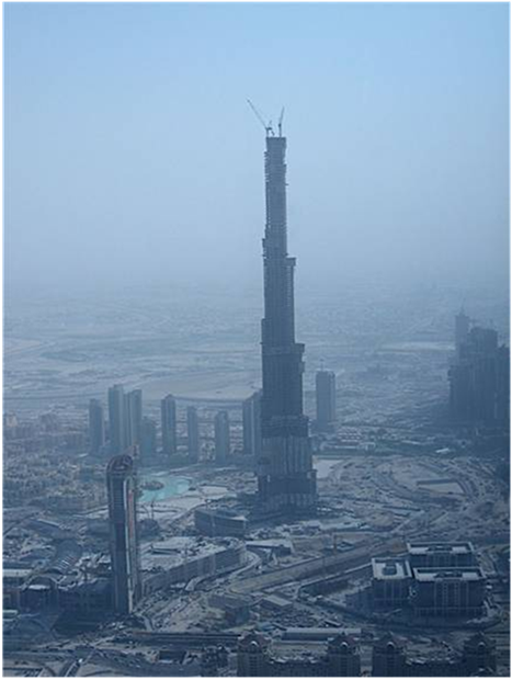 WORLD'S TALLEST BUILDING DUBAI Burj Dubai 900 meters 2952 feet .559 miles high Completed 2009