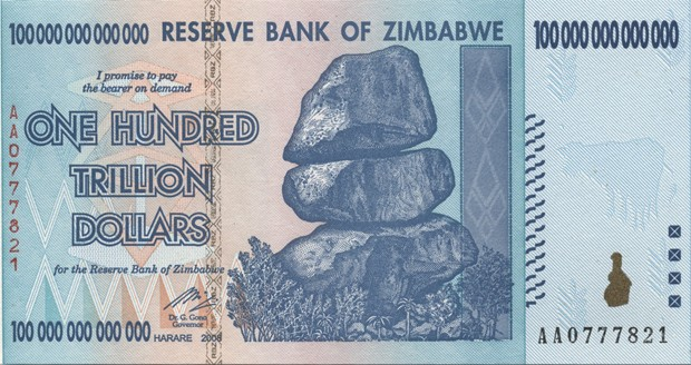 Zimbabwe, one trillion dollars, trillion dollar, Zimbabwe trillion dollars