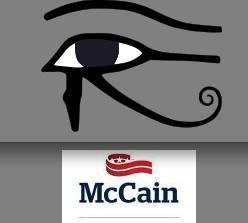 Bizarre McCain Logo invokes Eye of Horus?