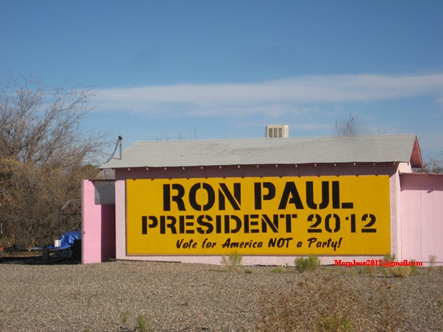 4409 Tesla Terry Ron Paul 2012 revolution continues sign making cottonwood Arizona