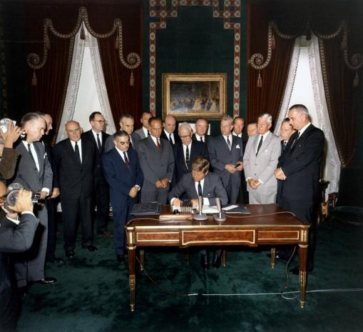 John F Kennedy Lyndon Johnson Averell Harriman