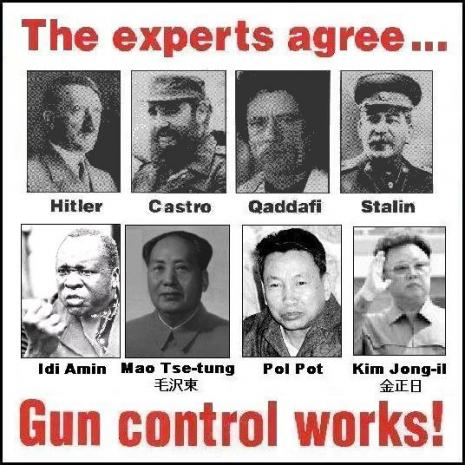 people who know gun control works hitler
