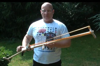 How to make the Sling-X-Bow at home, with common tools