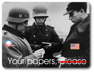 Nazi Germany checks citizens travel papers