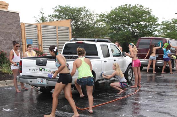 High School Cheer Car Wash