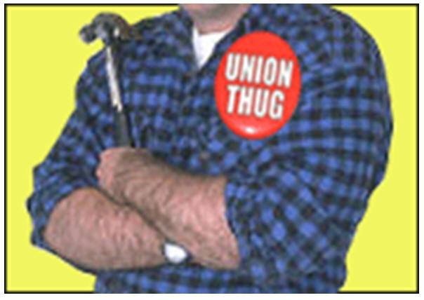 Union thugs burn down new non-union built Quaker church