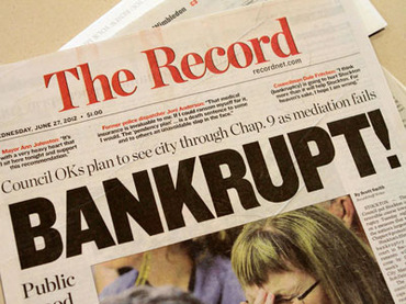 Bankrupt California cities slash public services to fund six-figure pensions