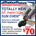 $70 off SunOven with FREEDOMSPHOENIX coupon code entered at checkout