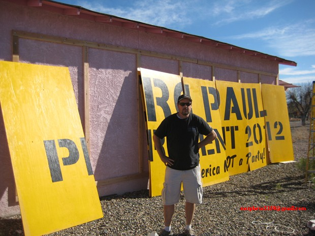 Tesla Ron Paul 2012 revolution continues sign making cottonwood Arizona