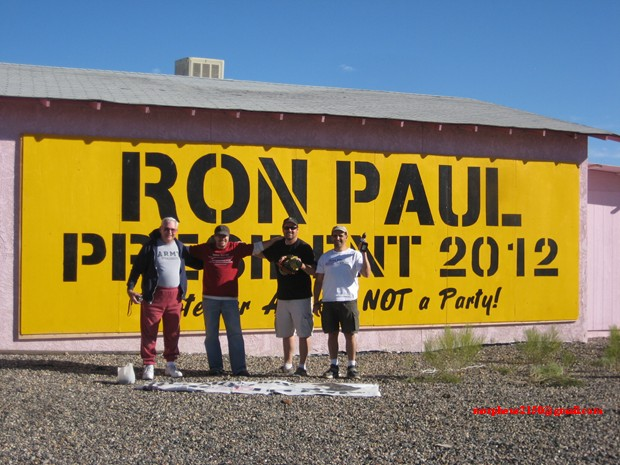 4409 tesla 4409 terry Ron Paul 2012 revolution continues sign making cottonwood Arizona