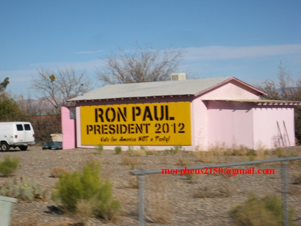 Ron Paul 2012 revolution continues sign making cottonwood Arizona
