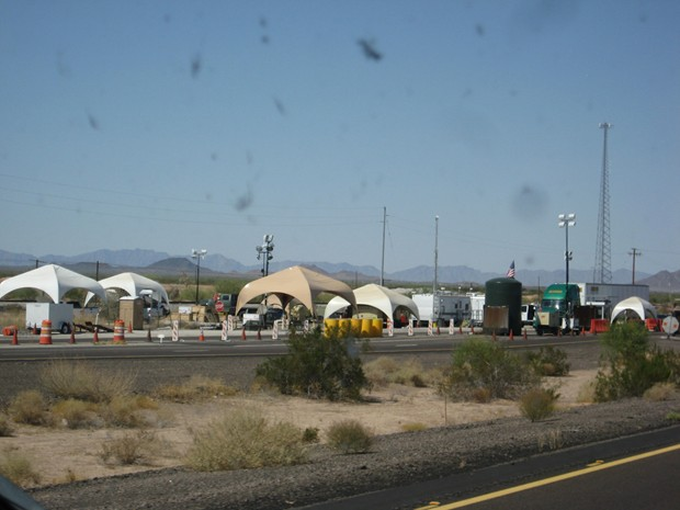 border patrol check point arizona 50 miles from border napolitano