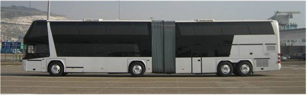 WORLD'S BIGGEST BUS Neoplan Jumbo - cruiser 2 in 1 bus double deck bus 170 passenger capacity