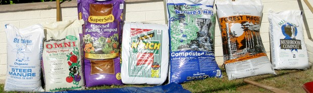 7 different kinds of composted materials