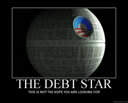 Great Art For Your Files - Obama's Debt Star