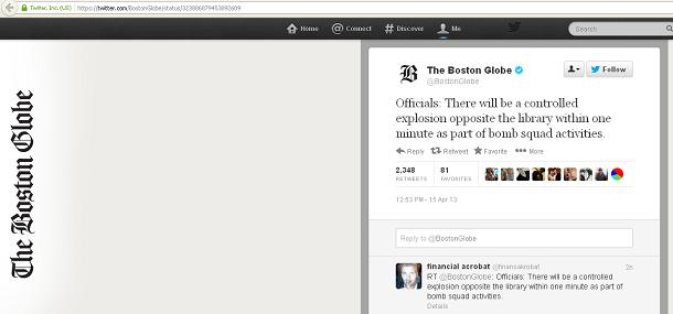 Boston Globe Twitter Announced...