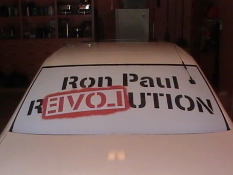 So you want something larger than a Ron Paul Bumper Sticker on your car????