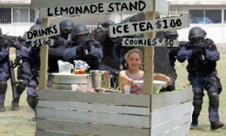 Image result for Image of police closing down a lemonade stand
